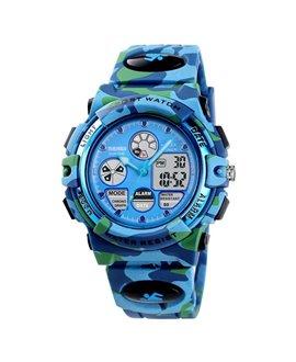 Αθλητικό ρολόι χειρός παιδικό SKMEI 1163 DARK BLUE CAMOUFLAGE