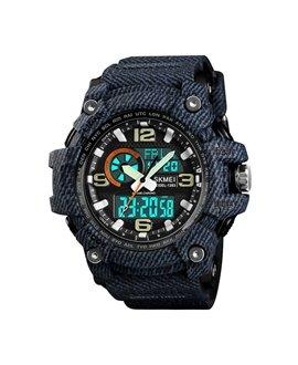 Αθλητικό ρολόι χειρός ανδρικό SKMEI 1283 DENIM BLACK