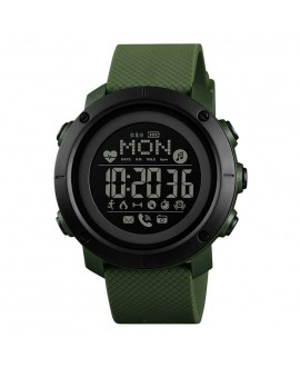 Smart Watch ρολόι με Βηματομετρητή και Bluetooth χειρός ανδρικό SKMEI 1512 ARMY GREEN