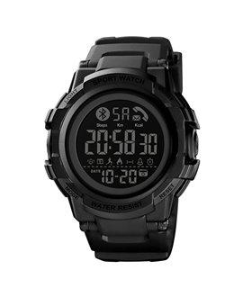 Smart Watch ρολόι με Βηματομετρητή και Bluetooth χειρός ανδρικό SKMEI 1512 BLACK