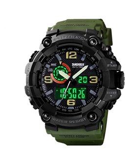 Αθλητικό ρολόι χειρός ανδρικό SKMEI 1520 ARMY GREEN