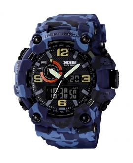 Αθλητικό ρολόι χειρός ανδρικό SKMEI 1520 BLUE CAMOUFLAGE