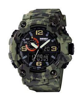Αθλητικό ρολόι χειρός ανδρικό SKMEI 1520 GREEN CAMOUFLAGE