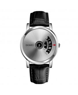 Ρολόι χειρός ανδρικό SKMEI 1260 BLACK/SILVER LEATHER