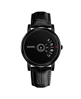 Ρολόι χειρός ανδρικό SKMEI 1260 BLACK LEATHER
