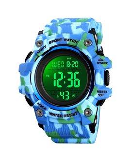 Αθλητικό ρολόι χειρός ανδρικό SKMEI 1552 LIGHT BLUE CAMOUFLAGE
