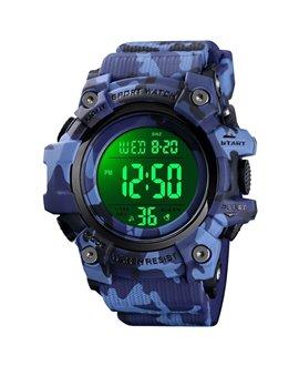 Αθλητικό ρολόι χειρός ανδρικό SKMEI 1552 DARK BLUE CAMOUFLAGE