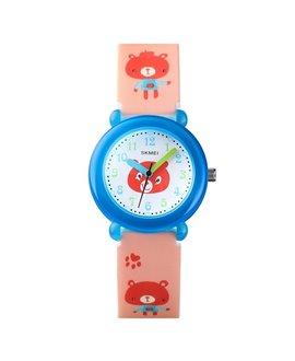 Ρολόι χειρός παιδικό αρκουδίτσα SKMEI 1621 PINK BEAR