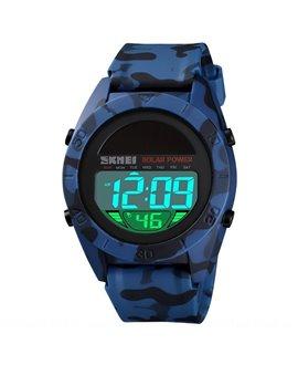 Αθλητικό ρολόι χειρός ηλιακής φόρτισης αδιάβροχο SKMEI 1592 BLUE CAMOUFLAGE