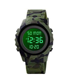 Αθλητικό ρολόι χειρός ανδρικό SKMEI 1631 ARMY GREEN CAMOUFLAGE